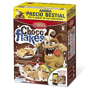 Cuétara Choco Flakes rellenos de chocolate Caja 550 g