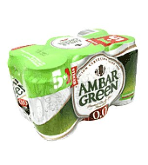 Ambar Cervez green Pack de 6x330 ml