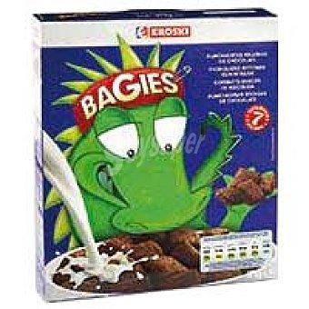 Eroski Bagies rellenos de chocolate Caja 375 g