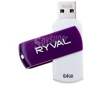 RYVAL Memoria USB Pendrive R360 64GB USB 2.0