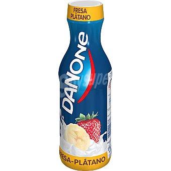 Danone yogur líquido sabor fresa y plátano  botella 575 g
