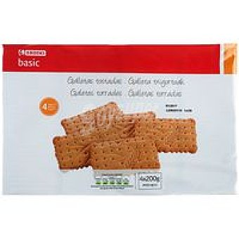 Eroski Basic Galleta tostada Pack 4x200 g