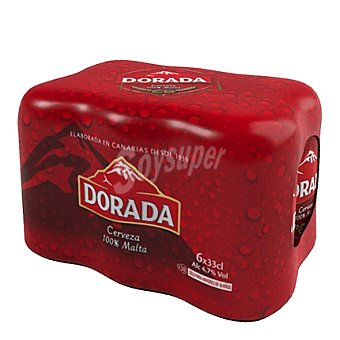 Cerveza Dorada malta Pack de 6 latas de 33 cl