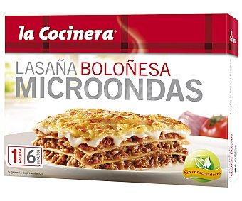 La Cocinera Lasaña boloñesa para microondas 300 g