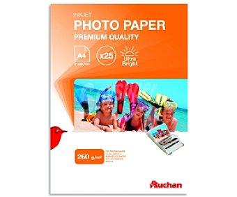 Auchan Papel Foto High Glossy A4 260 Gramos 260 Gramos