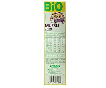 Auchan Mezcla de cereales crujientes con 7 frutas ecológicos 500 gramos