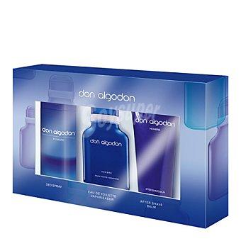 Don Algodón Estuche colonia spray 100 ml. + desodorante 200 ml. + after shave 100 ml. 1 ud