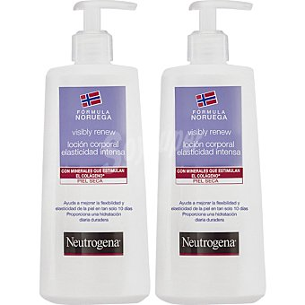 Neutrogena loción corporal elasticidad intensa para piel seca pack 2 envases 400 ml