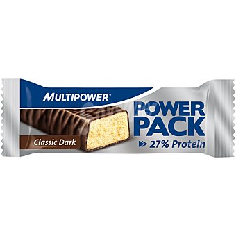 MULTIPOWER Power Pack barrita 27% proteína sabor chocolate negro  envase 35 g