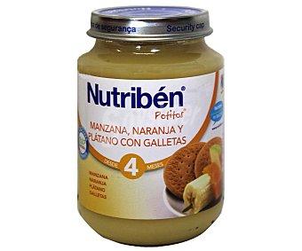 Nutribén Potito manzana, naranja y plátano galleta Junior 200 g