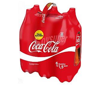 Coca-Cola Refresco de cola 6 botellas de 1,5 l