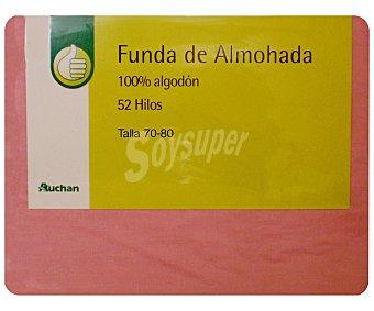 Productos Económicos Alcampo Funda Almohada 80 cm Salmón 1 unidad