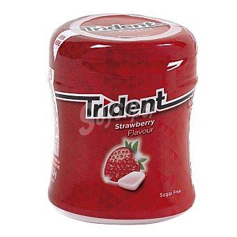 Trident Chicle grageas sabor fresa Bote 83 gr
