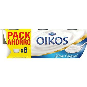 DANONE OIKOS Yogur griego natural 6 unidades de 115 g