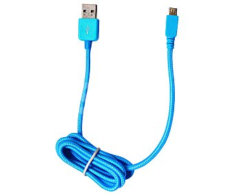 MUVIT Cable Conector Usb a Micro Usb Azul