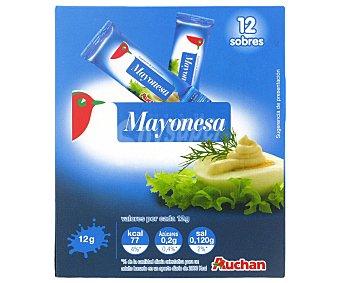 Auchan Mayonesa en monodosis 12 unidades de 12 gramos