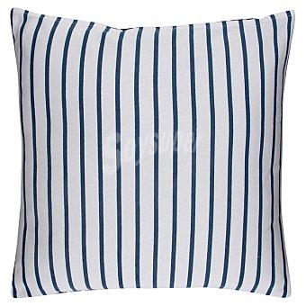 CASACTUAL Cojín con rayas azules y blancas 1 unidad