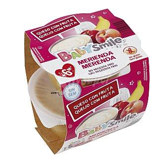 Baby Smile Merienda queso con fruta Pack 2 x 100 g