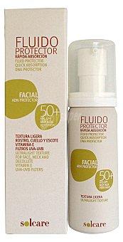 Solcare Protector solar facial F50+ (fluido) Botella 50 cc