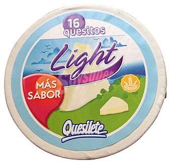 QUESILETE Queso porciones ligeras 16 U. Caja 250 g
