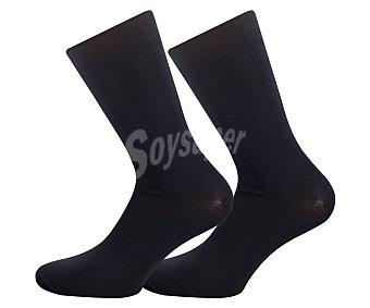 Pompea Pack de 3 pares de calcetines cortos color azul, talla 43/46