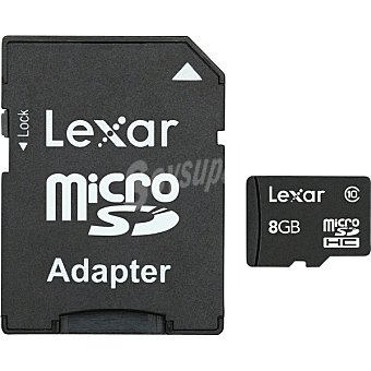 LEXAR Tarjeta de Memoria Micro Sdhc Adapter Clase 10 de 8 GB 1 Unidad