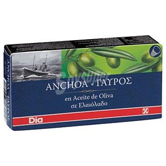 DIA Filetes de anchoa en aceite de oliva lata 30g