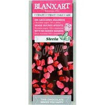 BLANXART Tableta choco negro 74% sin azúcar stevia & fresas 100 g