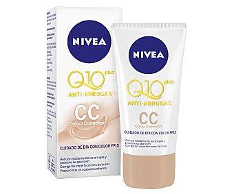 Nivea Crema antiarrugas colour correction con FP-15 Q-10 Plus Tubo 50 ml