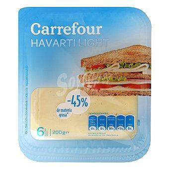 Carrefour Queso havarti light en lonchas Paquete 200 g