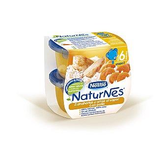 Naturnes Nestlé Compota c/galleta merienda manz.meloc Pack 2x200 grs