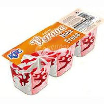 KTC Verona de nata-fresa Caja 375 ml
