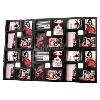 HOFMANN Portafotos multiple para 24 fotos en color negro