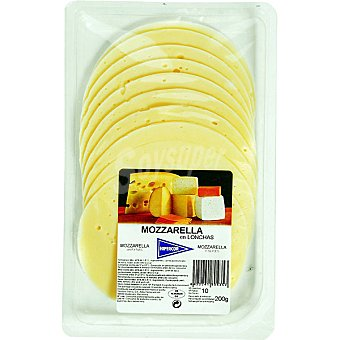 Hipercor Mozzarella en lonchas envase 200 g Envase 200 g