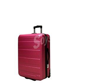 Productos Económicos Alcampo Maleta de 2 ruedas abs, Rígida color rosa Medidas: 56x34x22