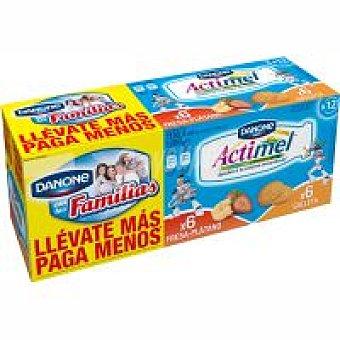 Actimel Danone Actimel Fresa Plátano Galleta Pack 12x100 ml