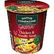 Sopa de pollo y fideos estilo asiático ecológica sin aceite de palma  vaso 55 g Natur Compagnie