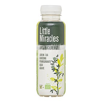LITTLE MIRACLES Refresco orgánico de Té verde y Ginseng 33 cl