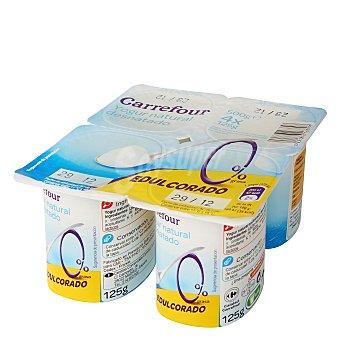 Carrefour Yogur natural desnatado edulcorado Pack de 4x125 g