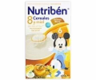 NUTRIBÉN Papilla instantánea 8 cereales miel galleta 600 Gramos