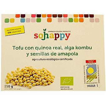 SOJHAPPY tofu con quinoa real y alga kombu con semillas de amapola  envase 250 g