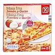 Pizza masa fina jamón y queso caja 350 gr 350 gr DIA