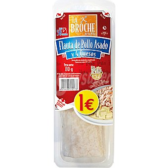 LA BROCHE flauta de pollo asado y cuatro quesos envase 120 g 1 unidad