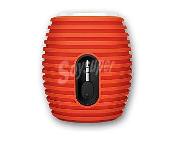 PHILIPS SBA3010ORG Mini altavoz de batería con cable retráctil de 3,5(mm) compatible con Smartphone, tablets y pc, color naranja