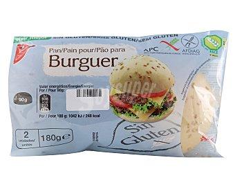 Auchan Panecillo para hamburguesa sin gluten (controlado por face) 2 unidades de 90 gramos