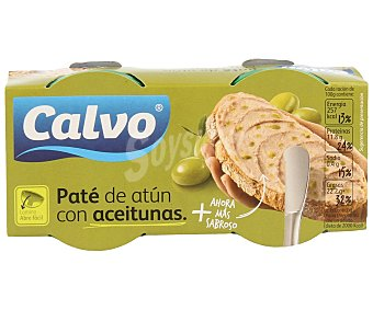 Calvo Paté de atún con aceitunas 2 unidades de 75 g