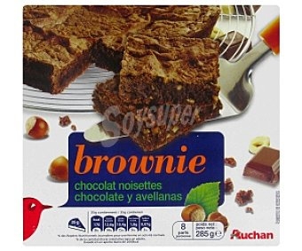 Auchan Brownies de Chocolate y Avellanas 285 Gramos