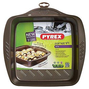 PYREX Asimetría Fuente cuadrada de metal 24 x 24 cm