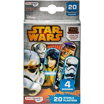 Star Wars Disney Apositos infantiles 4 diseños distintos caja 20 unidades 20 unidades