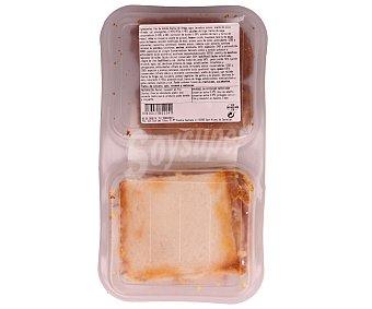 Bo de Debò Duo pastel de atún y libritos de jamón y queso 300 gramos